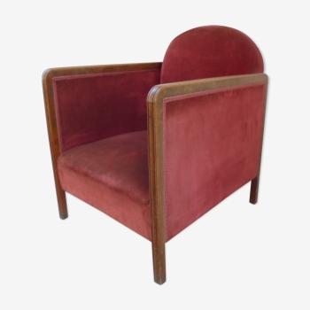 fauteuil vintage d 39 occasion et chauffeuse. Black Bedroom Furniture Sets. Home Design Ideas