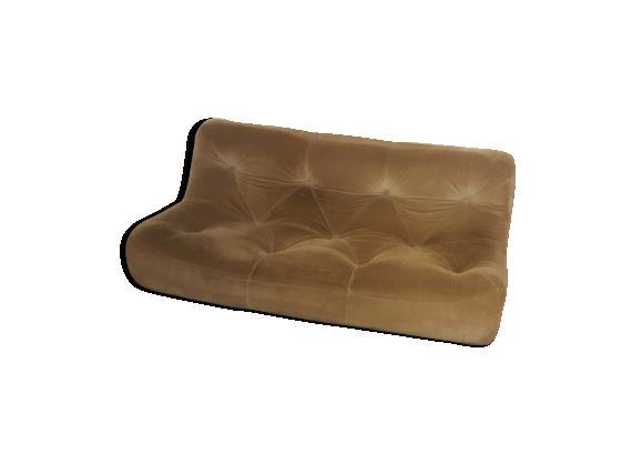 canap ligne roset 3 places tissu gris bon tat. Black Bedroom Furniture Sets. Home Design Ideas