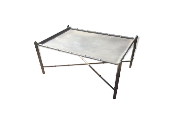 table de salon industriel fer gris bon tat. Black Bedroom Furniture Sets. Home Design Ideas