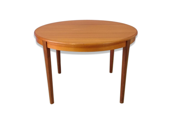 Table repas scandinave en teck extensible ann es 50 for Table scandinave en teck