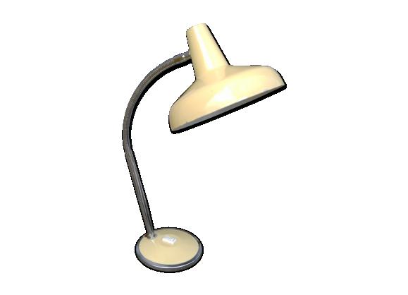 Lampe de bureau ann es 50 m tal m tal beige bon tat for Lampe de bureau annee 50