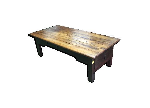 table basse en ch ne bois mat riau bois couleur bon tat classique. Black Bedroom Furniture Sets. Home Design Ideas
