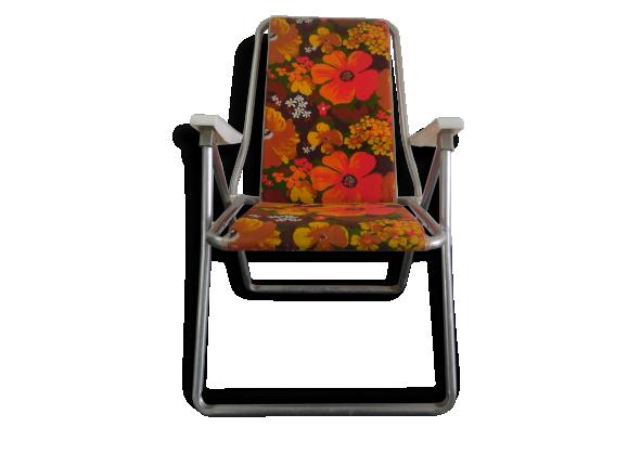 Chaise pliante de camping kettler vintage m tal for Chaise de camping pliante