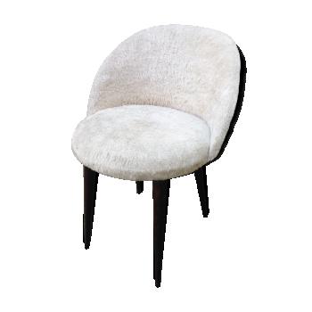 Chaise design industrielle scandinave vintage d 39 occasion for Chaise fourrure