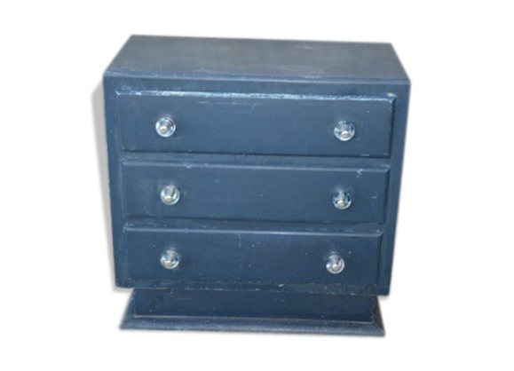 commode des ann es 40 bois mat riau bleu bon tat vintage. Black Bedroom Furniture Sets. Home Design Ideas