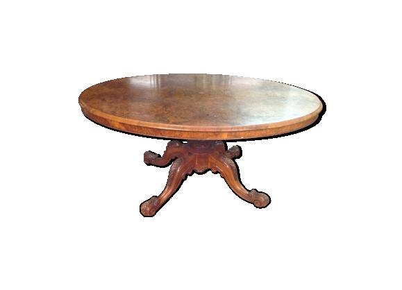 Table ovale 19eme