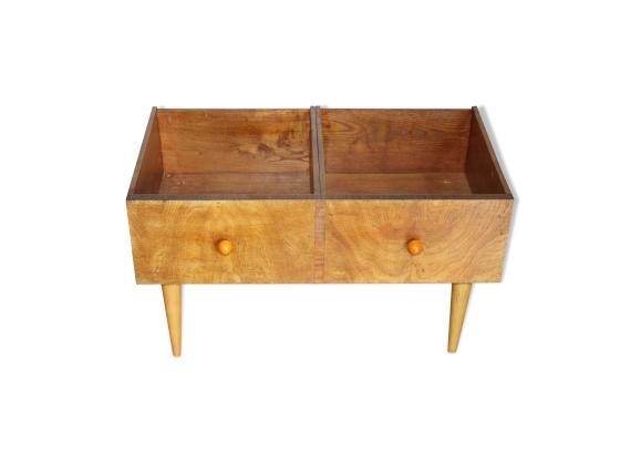 meuble de rangement disques vinyle bd livres pour enfants bois mat riau marron bon. Black Bedroom Furniture Sets. Home Design Ideas