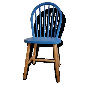 Chaise bleu vintage d 39 occasion - Chaise d occasion particulier ...