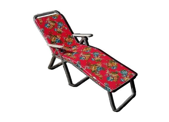 Chaise longue de jardin vintage