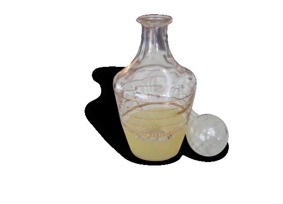 Carafe verre granité citronnée années 50