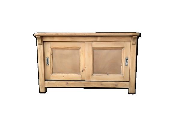 Buffet rustique bois clair 2 portes coulissantes
