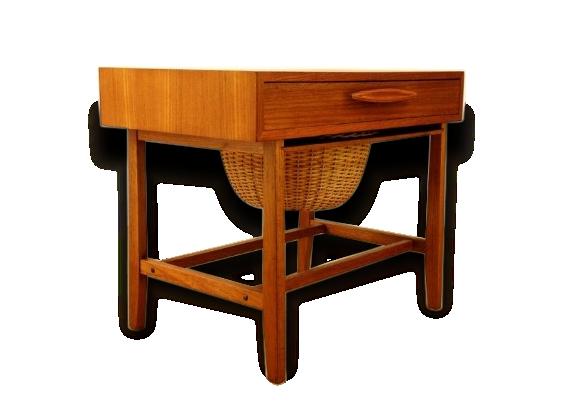 table d 39 appoint pour machine coudre vintage 1960 le fait main. Black Bedroom Furniture Sets. Home Design Ideas