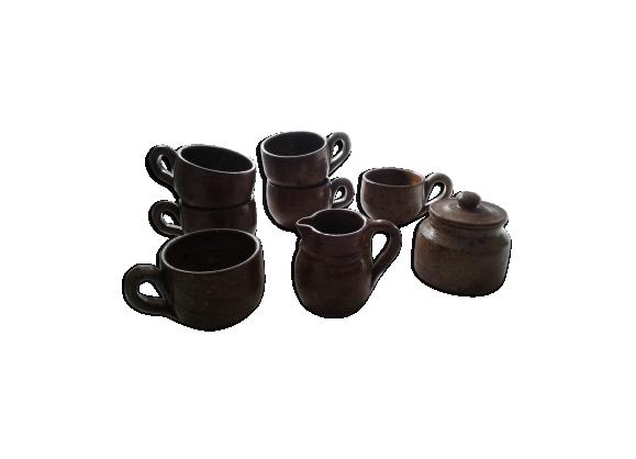 Service petit déjeuner café thé en grès