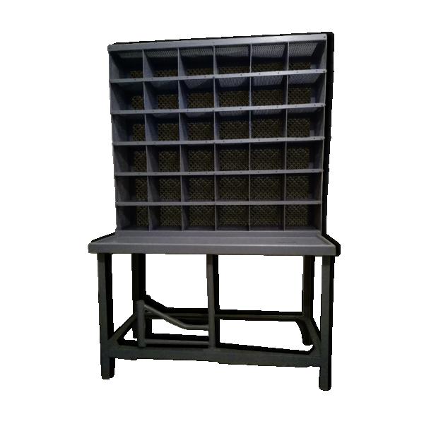 meuble de tri postal m tal gris bon tat industriel a83959db5d6b34d3b0ef0e6b3b7f20ea. Black Bedroom Furniture Sets. Home Design Ideas
