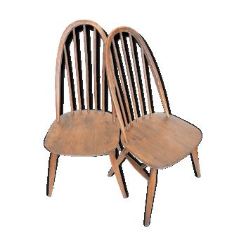 Paire de 2 chaises  Lucian Ercolani 1960 vintage