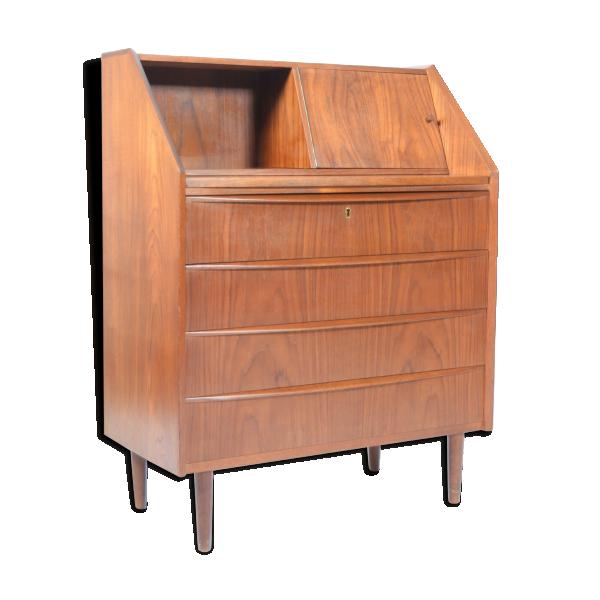 coiffeuse circa 1950 bois mat riau bois couleur bon tat scandinave. Black Bedroom Furniture Sets. Home Design Ideas