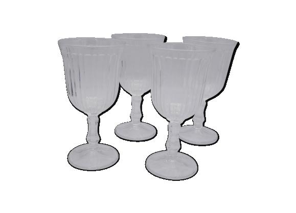 Série de 4 verres à pied