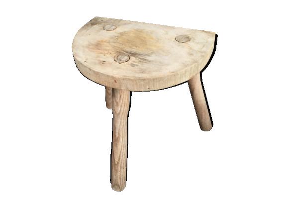 tr pied de vacher en bois brut bois mat riau marron bon tat industriel. Black Bedroom Furniture Sets. Home Design Ideas