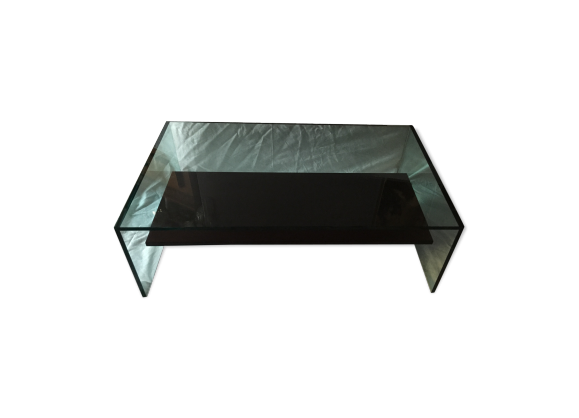 table basse verre transparent. Black Bedroom Furniture Sets. Home Design Ideas