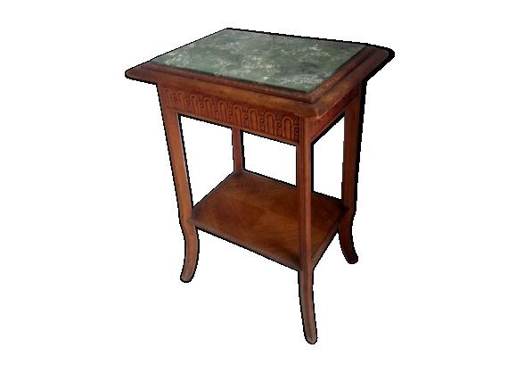 Table d'appoint bois et marbre
