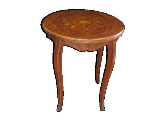 table basse en marqueterie bois mat riau marron bon tat classique. Black Bedroom Furniture Sets. Home Design Ideas