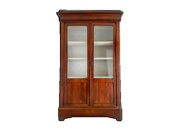 biblioth que louis philippe en acajou flamm xix me bois mat riau marron bon tat. Black Bedroom Furniture Sets. Home Design Ideas