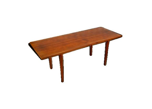 Table basse design scandinave en teck vintage 1960
