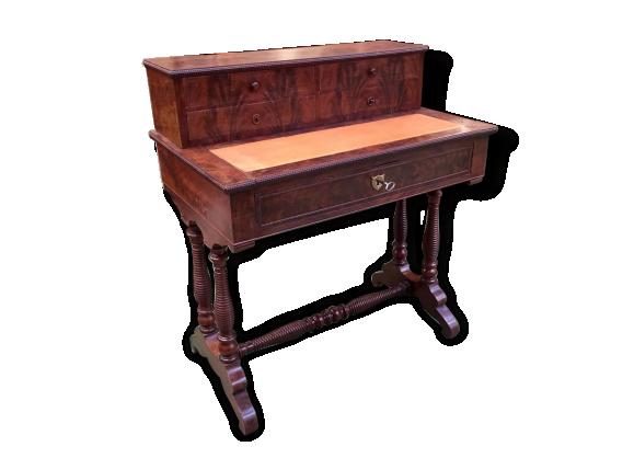 bureau bonheur du jour louis philippe bois mat riau bois couleur bon tat vintage. Black Bedroom Furniture Sets. Home Design Ideas