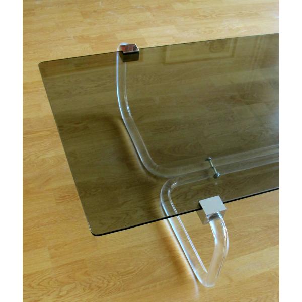 table basse verre et plexiglas verre et cristal transparent bon tat design. Black Bedroom Furniture Sets. Home Design Ideas
