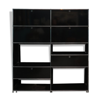 biblioth que vintage d 39 occasion. Black Bedroom Furniture Sets. Home Design Ideas