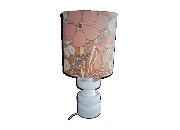 Lampe vintage pied porcelaine
