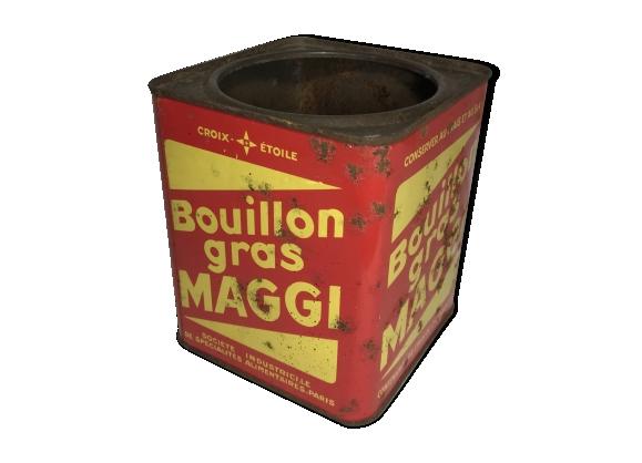 Ancienne boite métal bouillon gras maggi 54 etuis vintage