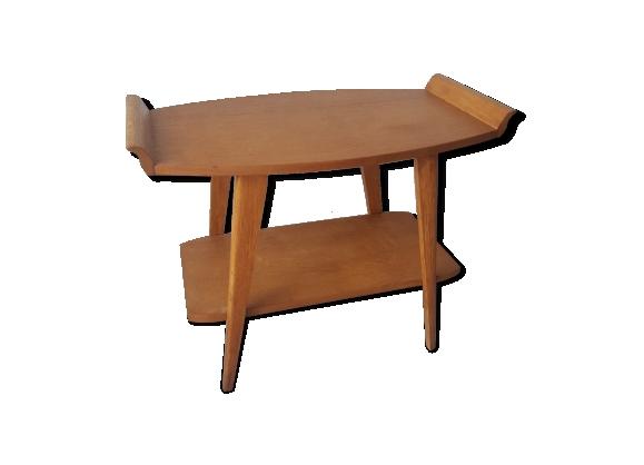 Table basse bois clair années 50