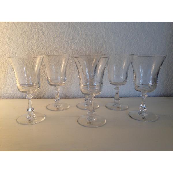 lot de 6 verres cristal val saint lambert verre et cristal transparent bon tat. Black Bedroom Furniture Sets. Home Design Ideas