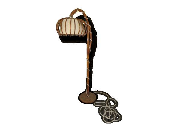 Lampadaire rotin bambou superbe