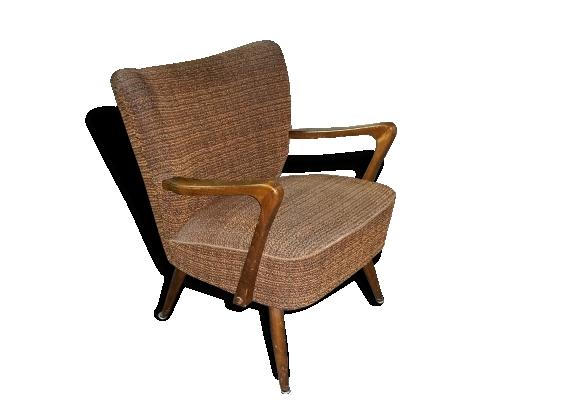 1 fauteuil cocktail années 50 vintage dans son jus