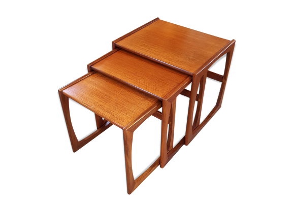 Tables gigognes scandinave dit e par g plan vers 1965 for Tables gigognes scandinave