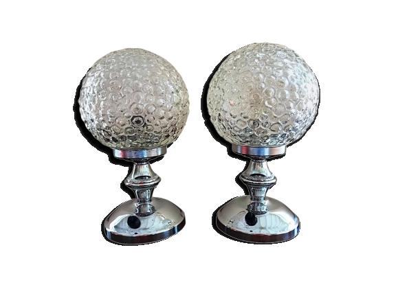 Paire de lampe de table Limburg Bubble 1960
