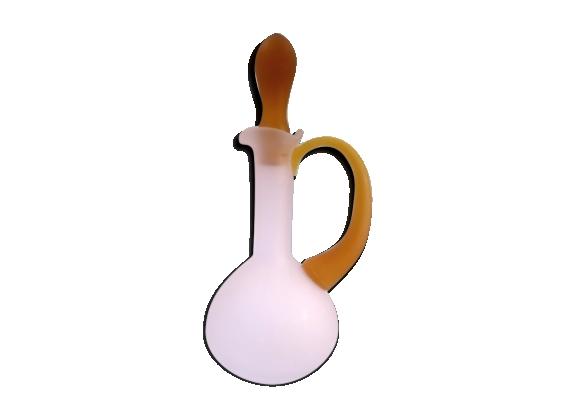 Carafe, flacon en verre soufflé