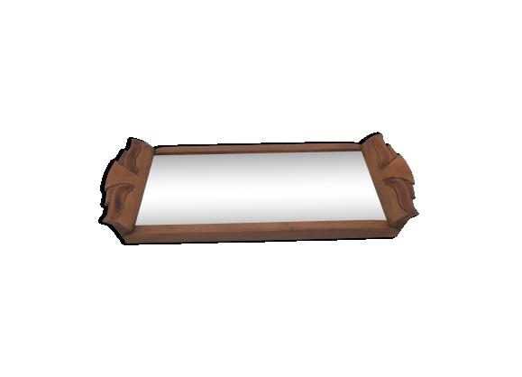 plateau miroir aux poign es en bois sculpt es bois mat riau bois couleur dans son jus. Black Bedroom Furniture Sets. Home Design Ideas