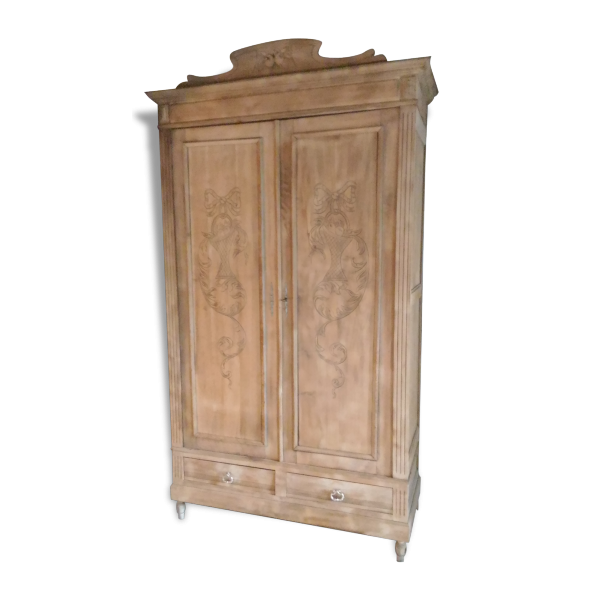 ancienne armoire bois brut garde robe vintage bois. Black Bedroom Furniture Sets. Home Design Ideas