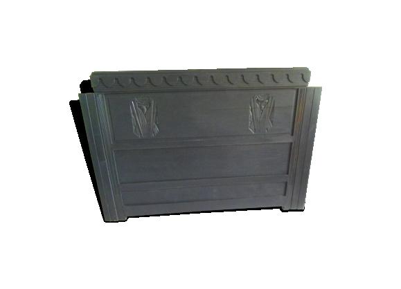 Tête de lit Art déco patinée gris ardoise finition cirée