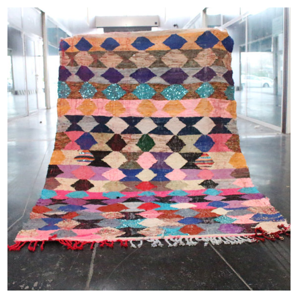 tapis marocain kilim 226x155cm tissu multicolore bon. Black Bedroom Furniture Sets. Home Design Ideas