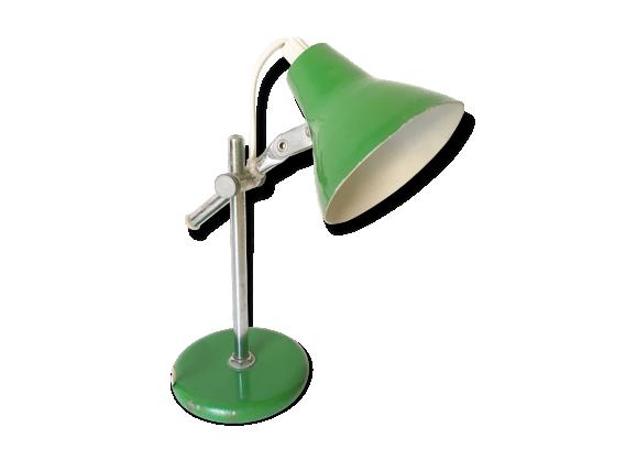 Lampe de bureau en m tal vert m tal vert bon tat - Lampe de bureau style industriel ...