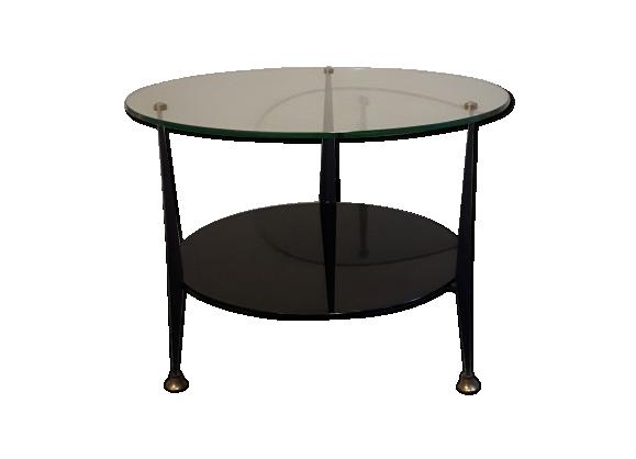 Table basse à double plateau des années 50