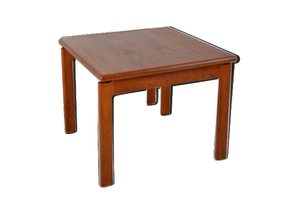 Table carr e teck for Table carree style scandinave