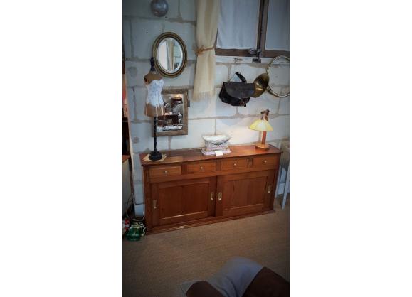 meuble anglais étroit en pichepin xxème - bois (matériau) - bois ... - Meuble Design Anglais