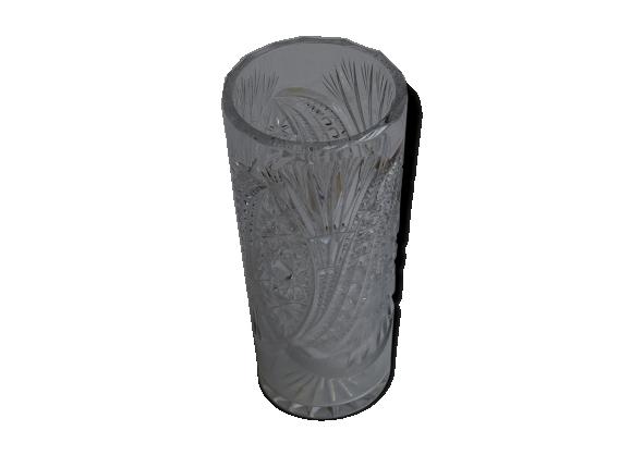 vase en cristal verre et cristal transparent dans son jus classique. Black Bedroom Furniture Sets. Home Design Ideas