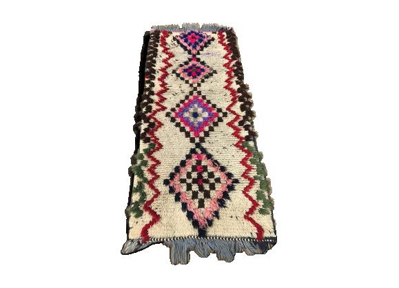 tapis berb re azilal marocain 210x83cm tissu multicolore bon tat thnique. Black Bedroom Furniture Sets. Home Design Ideas