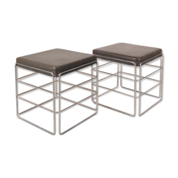 tabouret pouf ottoman vintage d 39 occasion. Black Bedroom Furniture Sets. Home Design Ideas